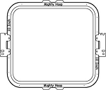 "Mighty Hoop - 10""x10"" Square Hoop, Specify Machine and Arm Spacing"