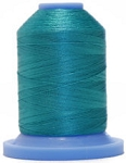 Robison Anton Super Brite Polyester #122 Embroidery Thread, 5000M Cone, Color 9139, BLUE APPEAL