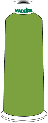 Madeira Classic Rayon #40 - 5500YD/CN - Color 1469 - Granny Smith