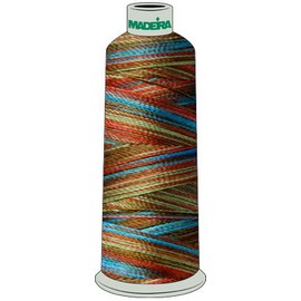 Madeira Polyneon 40 Multi Color Thread 5000m Cone