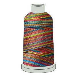 Madeira Polyneon #40 -  Multi Color Thread - 1000M Spool