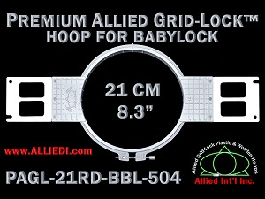 "Premium Allied GridLick Brother (PR Series) 8.3"" Round Hoop"