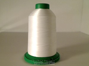Isacord Embroidery Thread, 5000M, 40W Polyester Thread, 0015..White