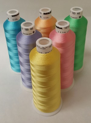 Madeira Classic Rayon Spring Colors - LG 5,500YDS - 6 Colors