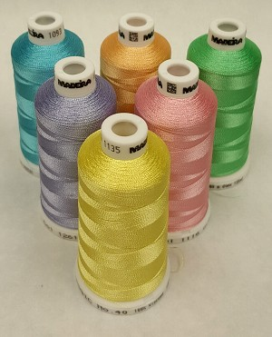 Madeira Classic Rayon Spring Colors - 1,100YDS - 6 Colors