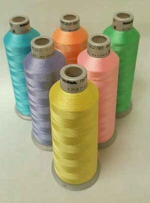 Madeira Polyneon Spring Colors Thread, 5,500YDS, 6 colors