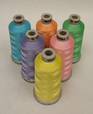 Madeira Polyneon Spring Colors - 1,100 yds Spool - 6 colors