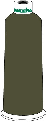 Madeira Classic Rayon #40 - 5500YD/CN - Color 1406 - Dark Camo Green