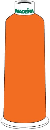 Madeira Classic Rayon #40 - 5500YD/CN - Color 1478 - Orange Peel